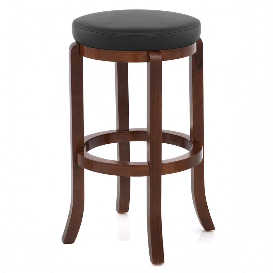 Ttf906 Walnut Finish Wooden Stool